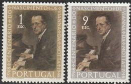 Portugal, 1969, Mi 1082-1083, Centenary Of The Birth Of Vianna Da Motta, Piano Virtuoso, 2v, MNH - Music