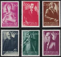 Portugal, 1974, Mi 1254-1259, Portuguese Musicians, 6v, MNH - Music
