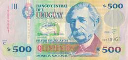 K29 - URUGUAY - Billet De 500 PESOS URUGUAYOS - Uruguay