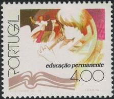Portugal, 1977, Mi 1367, Continual Education, Folk Dancers/ Child With Flute, 1v Out Of Set, MNH - Music