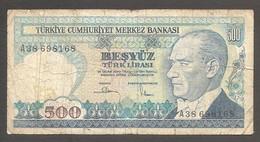 Turchia - Banconota Circolata Da 500 Lire P-195a.1 - 1983/9 #19 - Turkey