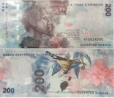 S. Tome E Principe - 200 Dobras 2021 UNC Paper St Thomas And Prince Lemberg-Zp - San Tomé E Principe