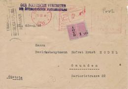 Der Politische Vertreter Der Österreichischen Bundesregierung Bukarest 1948 > Hofrat Dr. Ernst Hodel Gmunden - Cartas