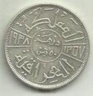 50 Fils 1938 Iraque Silver - Iraq
