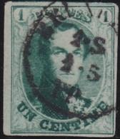 Belgie   .    OBP    .  9  (2 Scans)    .   O      .   Gestempeld  .   /   .   Oblitéré - 1858-1862 Medaglioni (9/12)