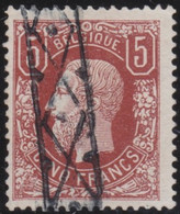 Belgie   .    OBP    .    37  (2 Scans)   .   Keur/signé  .     O      .   Gestempeld  .   /   .   Oblitéré - 1869-1883 Leopoldo II
