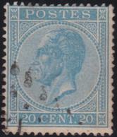 Belgie   .    OBP    .   18A  .  Perf. 15      .     O      .   Gestempeld  .   /   .   Oblitéré - 1865-1866 Profile Left