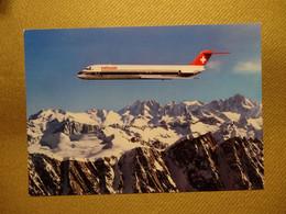Swissair DC 9-51 über Den Alpen (2205) - 1946-....: Modern Tijdperk