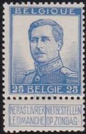 Belgie   .    OBP    .    120       .     **    .   Postfris .   /   .  Neuf Avec Gomme Et Sans Charnière - 1912 Pellens