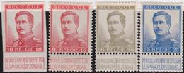 Belgie   .    OBP    .    123/125       .     **    .   Postfris .   /   .  Neuf Avec Gomme Et Sans Charnière - 1912 Pellens