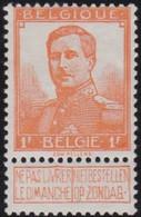 Belgie   .    OBP    .    116      .     *      .   Ongebruikt Met Gom .   /   .  Neuf Avec Gomme - 1912 Pellens