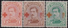 Belgie   .    OBP    .    150/152    .     **    .   Postfris .   /   .  Neuf Avec Gomme Et Sans Charnière - 1918 Croix-Rouge