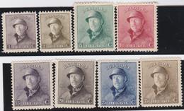 Belgie   .    OBP    .    165/172  (2 Zegels: *)   .     **    .   Postfris .   /   .  Neuf Avec Gomme Et Sans Charnière - 1919-1920 Roi Casqué