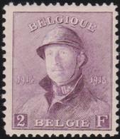 Belgie   .    OBP    .    176  (2 Scans)     .     *      .   Ongebruikt Met Gom .   /   .  Neuf Avec Gomme - 1919-1920  Re Con Casco