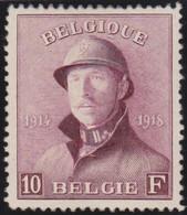 Belgie   .    OBP    .    178  (2 Scans)     .     *      .   Ongebruikt Met Gom .   /   .  Neuf Avec Gomme - 1919-1920  Re Con Casco