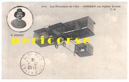 Les Pionniers De L'air  Godard Sur Son Biplan Voisin - Piloten