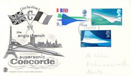Great Britain FDC 1969 Concorde (DD29-8) - Concorde