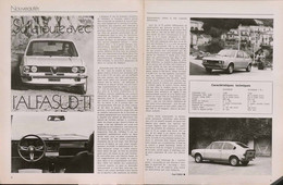 Article Papier 2 Pages ALFASUD TI Novembre 1973 21X27  SM P1058006 - Unclassified