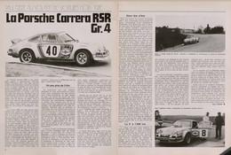 Article Papier 2 Pages PORSCHE CARRERA RSR GR 4 Novembre 1973   SM P1058006 - Unclassified