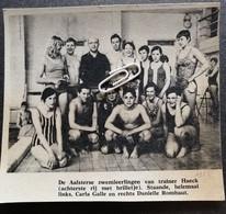 AALST..1968..(?) DE AALSTERSE ZWEMLEERLINGEN VAN TRAINER HAECK / CARLA GALLE / DANIELLE ROMBAUT - Unclassified