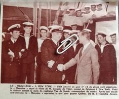 """LE """"MERCATOR """"A NEW-YORK / M. JACQUES  De THIER CONSUL DE BELGICQUE / CAPITAINE VAN De SANDE COMMANDANT.. 1953.. - Unclassified"""
