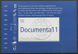 Bund 2002 Documenta Kassel Block 58 Mit TOP-Stempel (C98839) - Bloques