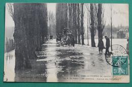 Montgeron - Crosnes  ;   Avenue Des Peupliers Avec Omnibus - Montgeron