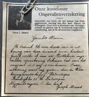 WIJNEGEM..1933.. UITBETALING ONGEVALLENVERZEKERING AAN DE HEER JOSPH MEEUS - Unclassified
