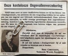 EMELGHEM..1935..UITBETALING ONGEVALLENVERZEKERING AAN DE HEER CHRISTIAENS - Unclassified