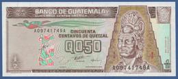 GUATEMALA - P.96 – 50 Centavos De Quetzal 28.08.1996 UNC Serie A09741749A - Guatemala
