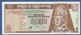 GUATEMALA - P.98 – 50 Centavos De Quetzal 09.01.1998 UNC Serie A33409208A - Guatemala