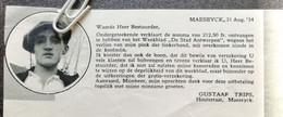 MAASEIK..1934.. UITBETALING ONGEVALLENVERZEKERING NA EEN ONGEVAL IN DE KOOLMIJN AAN HEER GUSTAAF TRIPS - Unclassified