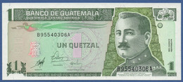 GUATEMALA - P.99 – 1 Quetzal 09.01.1998 UNC Serie B95540306A - Guatemala