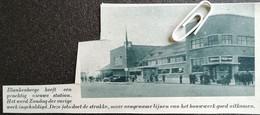 BLANKENBERGE..1937.. HET NIEUWE STATION WERD INGEHULDIGD - Unclassified