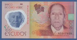 CAPE VERDE - P.71 –  200 Escudos 05.07.2014  UNC Prefix AE - Cape Verde