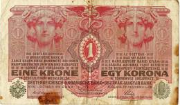 Oostenrijk-Hongarije 1 Biljet Van 1 Krone Uit 1916 Gbruikt (3237) - Austria