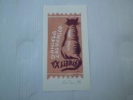 ANTONINI ETTORE - ILLUSTRATEUR EX LIBRIS ARTISTE - POUR CALVANICO DANIELA - MONOGRAME AE - CONTRE SIGNÉ 1994 - Ex Libris