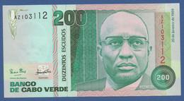 CAPE VERDE - P.58a –  200 Escudos 1989  UNC Prefix AZ - Cape Verde
