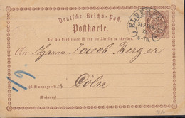 DR P 1, Mit Hufeisenstempel: Elberfeld 1.SEPTBR. 1873 - Entiers Postaux