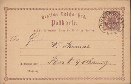 DR P 1, Mit Hufeisenstempel: Osnabrück 5.SEPTBR. 1873 - Entiers Postaux