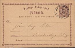 DR P 1, Mit Hufeisenstempel: Osnabrück 17.OCTBR. 1873 - Entiers Postaux