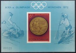 RUMÄNIEN  Block 101, Postfrisch **, Olympische Sommerspiele München, Medaillengewinner, 1972 - Blocs-feuillets