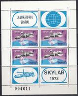 RUMÄNIEN  Block 117, Postfrisch **, Skylab, 1974 - Blocks & Kleinbögen