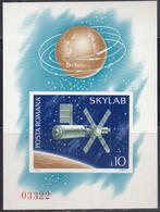 RUMÄNIEN  Block 118, Postfrisch **, Skylab, 1974 - Blocs-feuillets