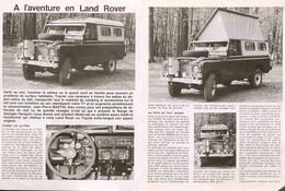 Article Papier 3 Pages LAND ROVER Mai 1982   TT P1057991 - Unclassified