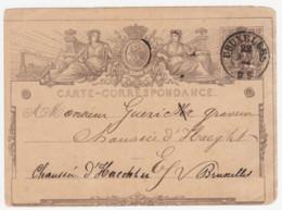 N° 1A   O    De Bruxelles Vers Bruxelles - Postcards [1871-09]
