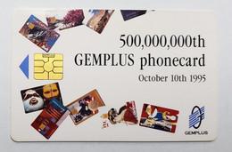 GEMPLUS - DEMO CARD - 500,000,000th GEMPLUS PHONECARD - OCTOBER 1995 - TELECOM 95  - RARE - Tarjetas De Salones Y Demostraciones