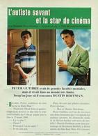 Article Papier 6 Pages DUSTIN HOFFMANN RAIN MAN AUTISME  Avril 1993 P1049578 - Unclassified