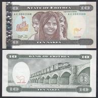 Eritrea 10 Nakfa Banknote 1997 Pick 3 UNC (1)   (23203 - Andere - Afrika