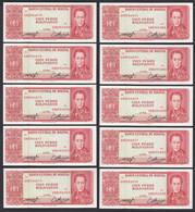Bolivien - Bolivia 10 Stück á 100 Bolivianos 1962 Pick 164A UNC (1)   (89174 - Sonstige – Amerika